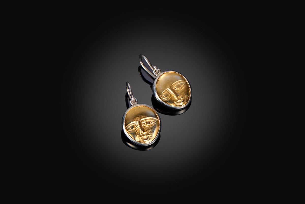 Mirka by Kozminsky Earrings in gold and silver