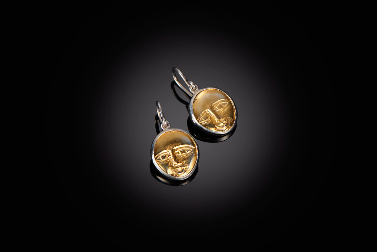 Mirka by Kozminsky Earrings in gold and silver