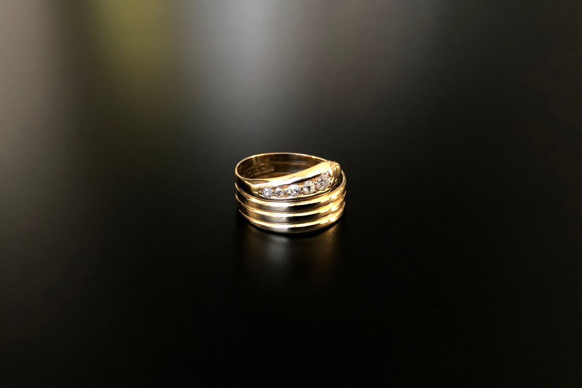 Victorian Gold and Diamond Snake Ring