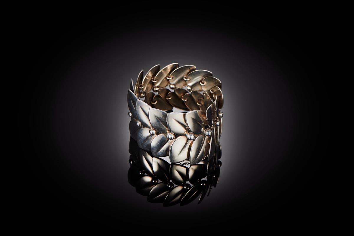 Vintage Silver Leaf Bracelet