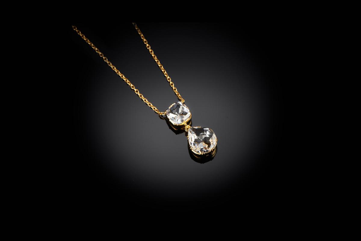 Kozminsky Rock Crystal Pendant. Silver gilt.