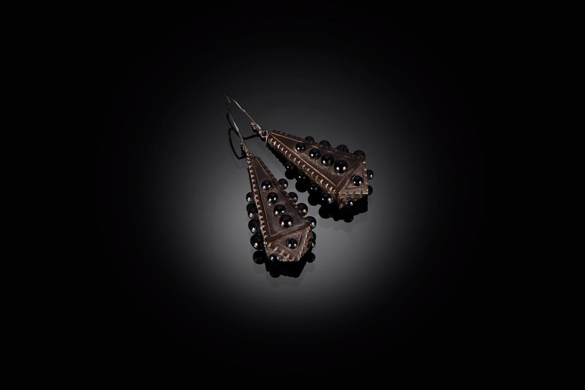 Victorian Bog Oak Earrings