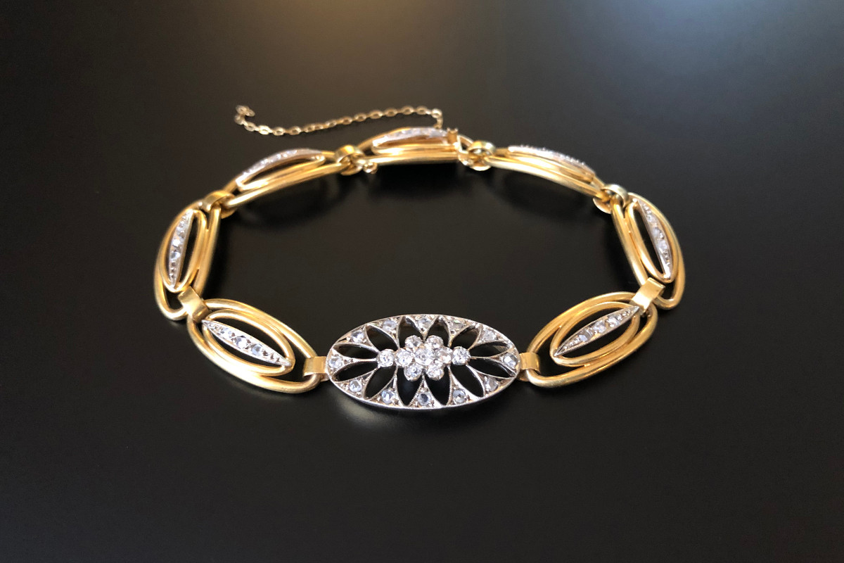 Edwardian Gold and Diamond Bracelet