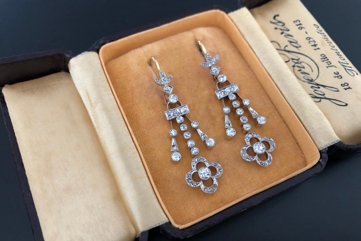 Belle Epoque Diamond Drop Earrings