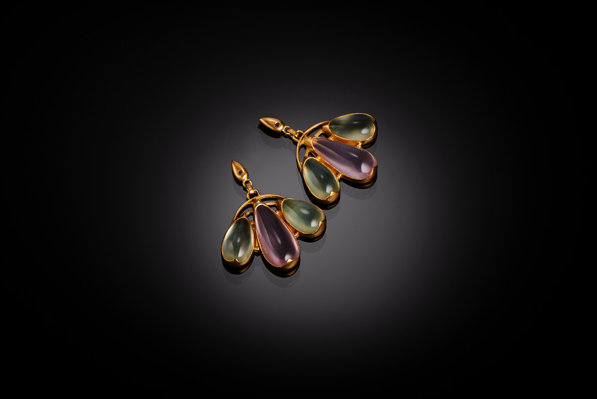 Mariposa Fan Earrings in 22ct gold