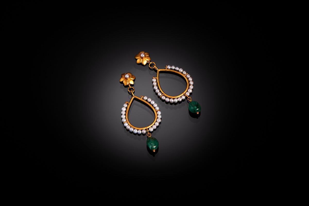 Matahari Loop Earrings by Lisa Black