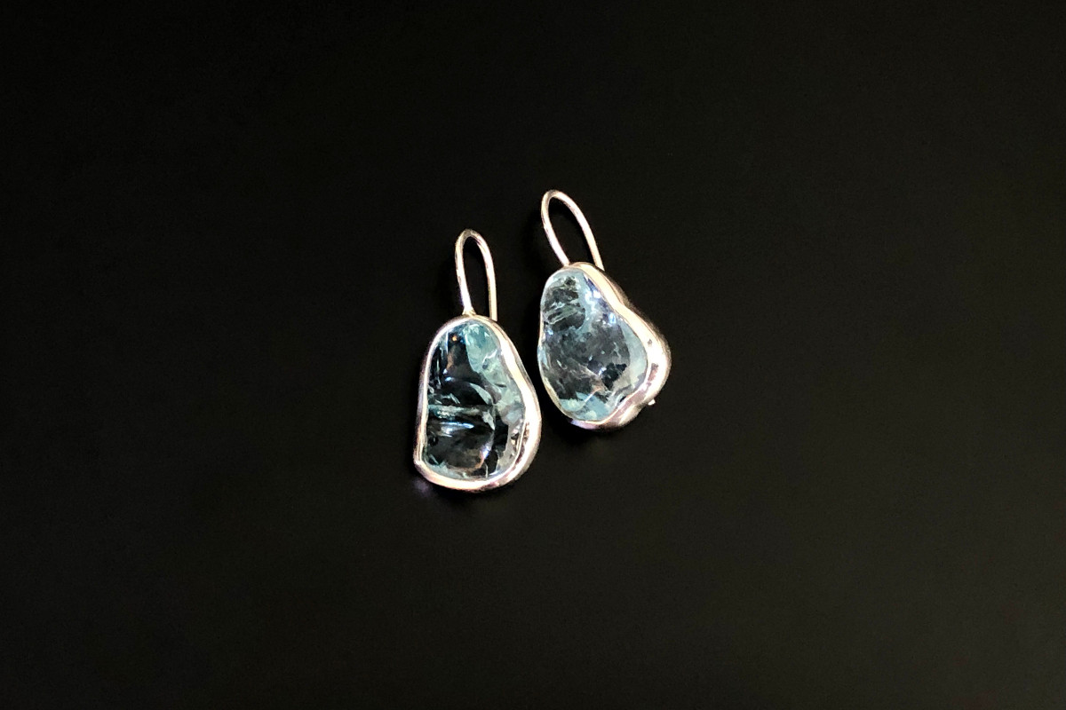 A Stunning Pair of Aquamarine Earrings