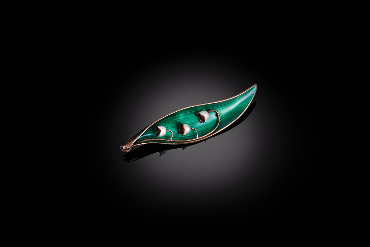 Lily of the Valley Brooch by Arne Nordie Silver. Norway.