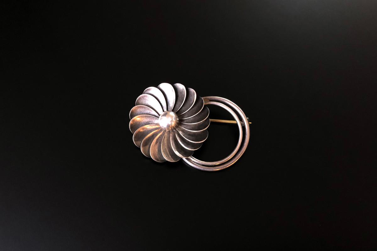 Floral Brooch by Georg Jensen USA Silver