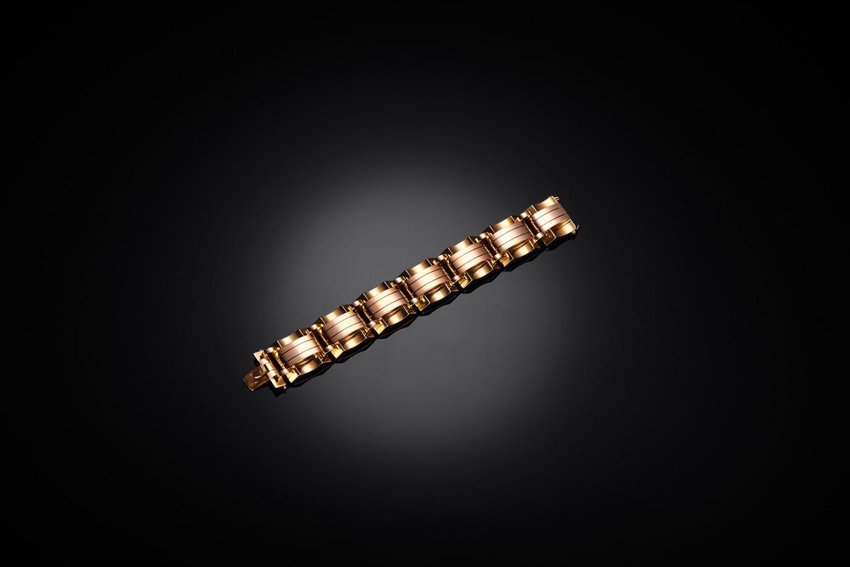 Vintage gold cocktail bracelet.