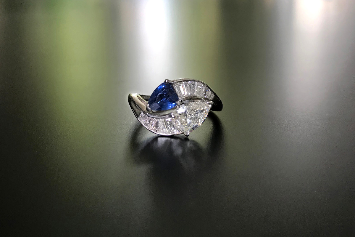 Diamond and Sapphire serpent ring.