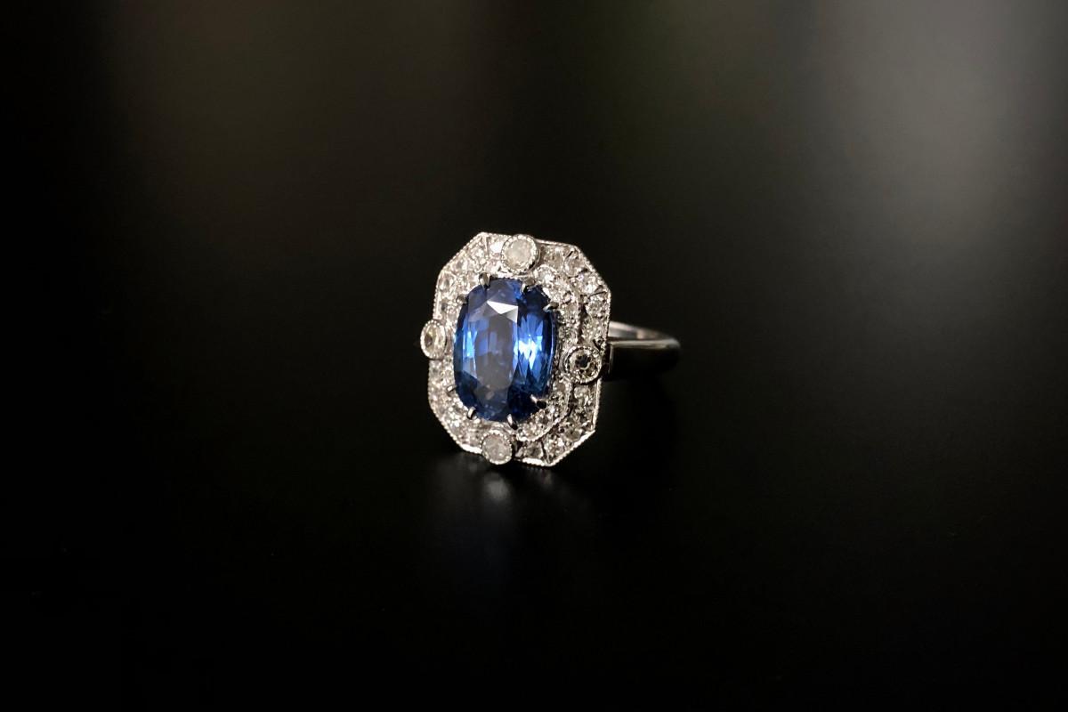 Kozminsky Sapphire and diamond ring.