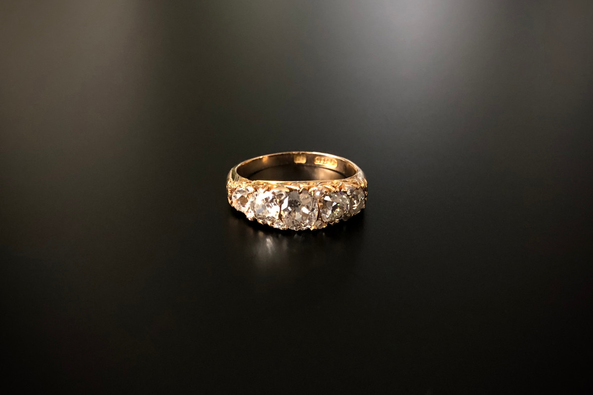 Antique, Victorian Five Stone Diamond Ring