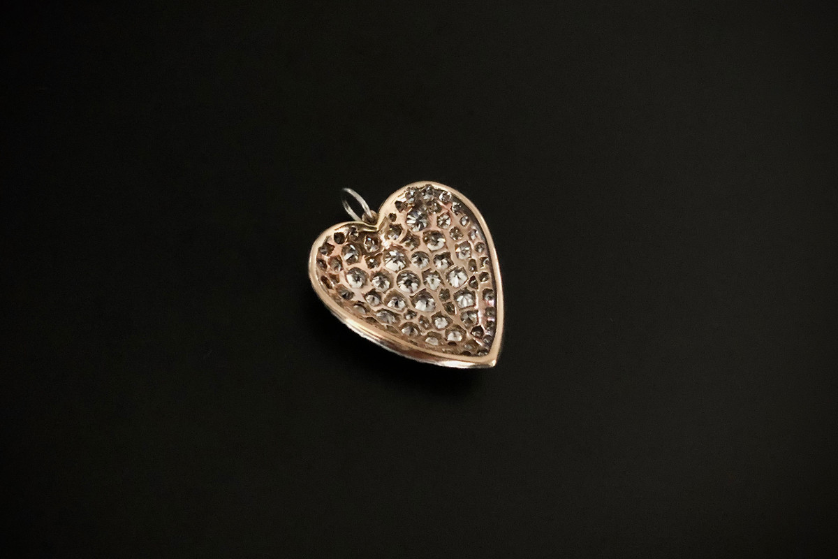A Fabulous Diamond Heart Pendant