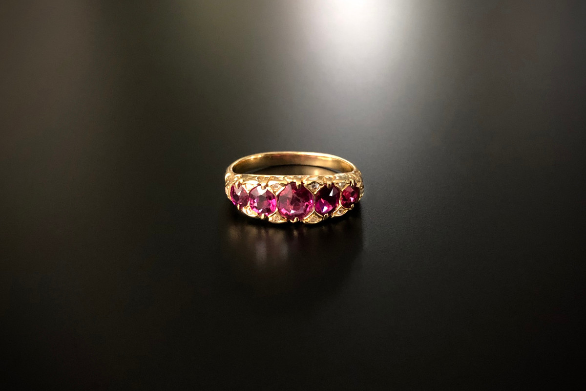 A Classic Ruby Half Hoop Ring