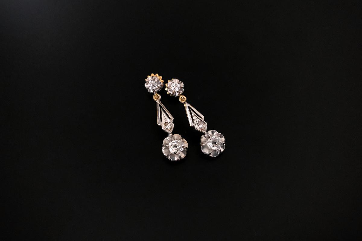 A Petite Pair of Diamond Drop Earrings