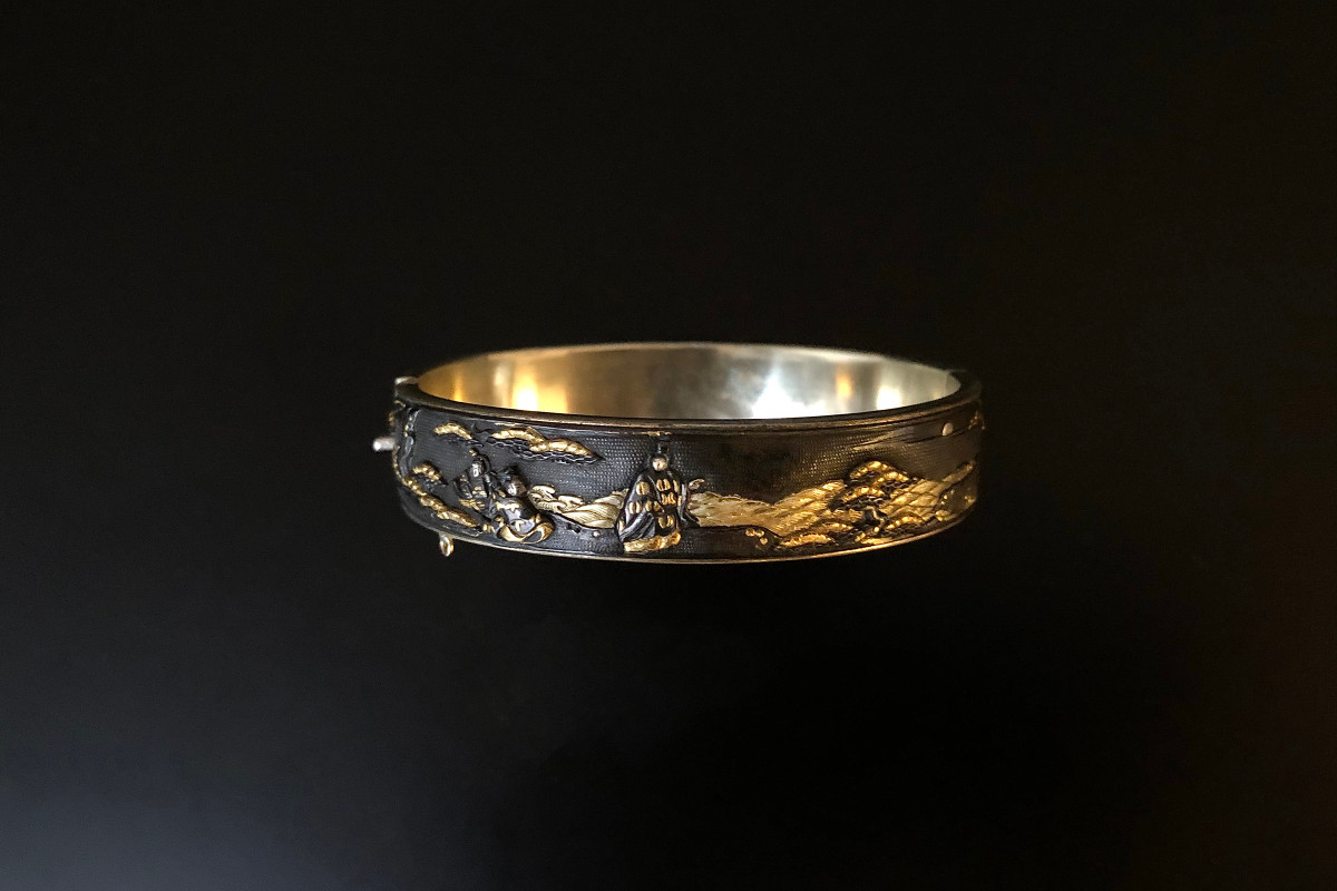 A Rare Japanese Shakudo Bangle