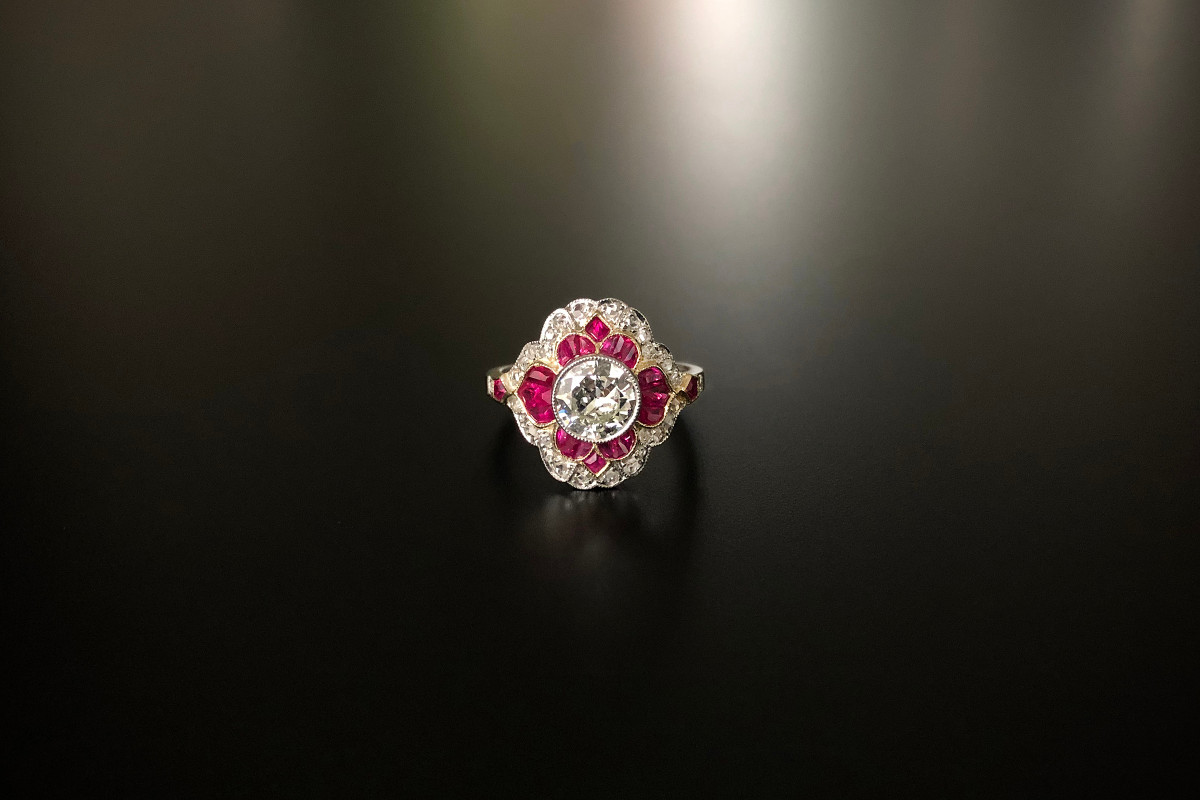 A Glorious Diamond and Ruby Ring