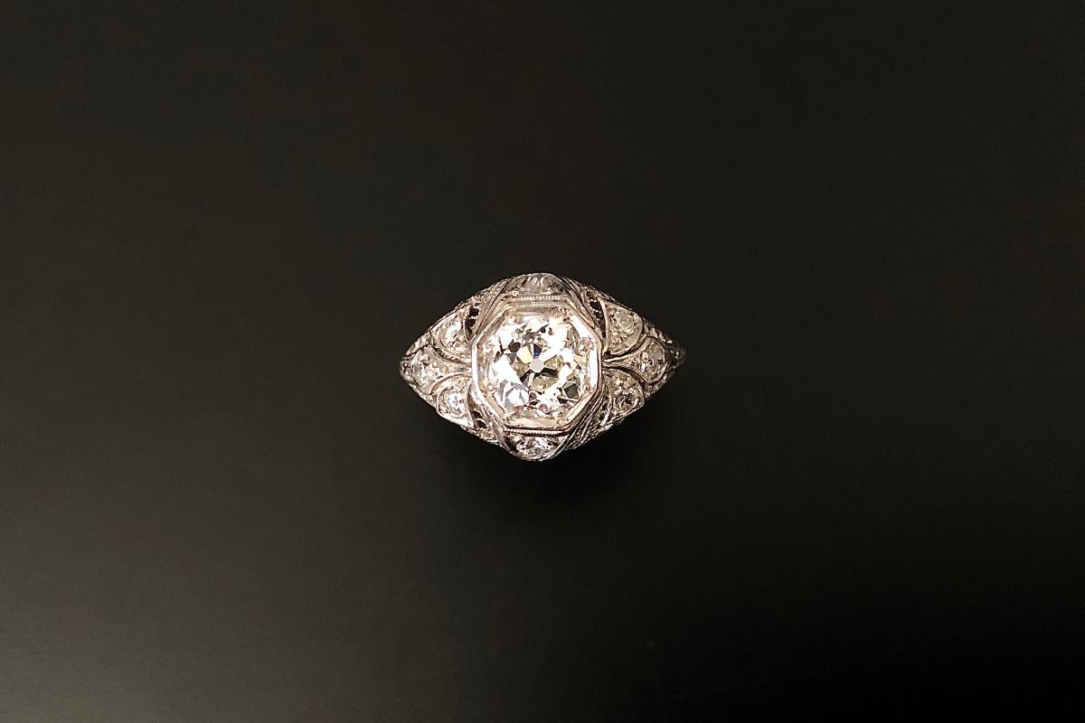 A Fabulous French Solitiare Diamond Ring