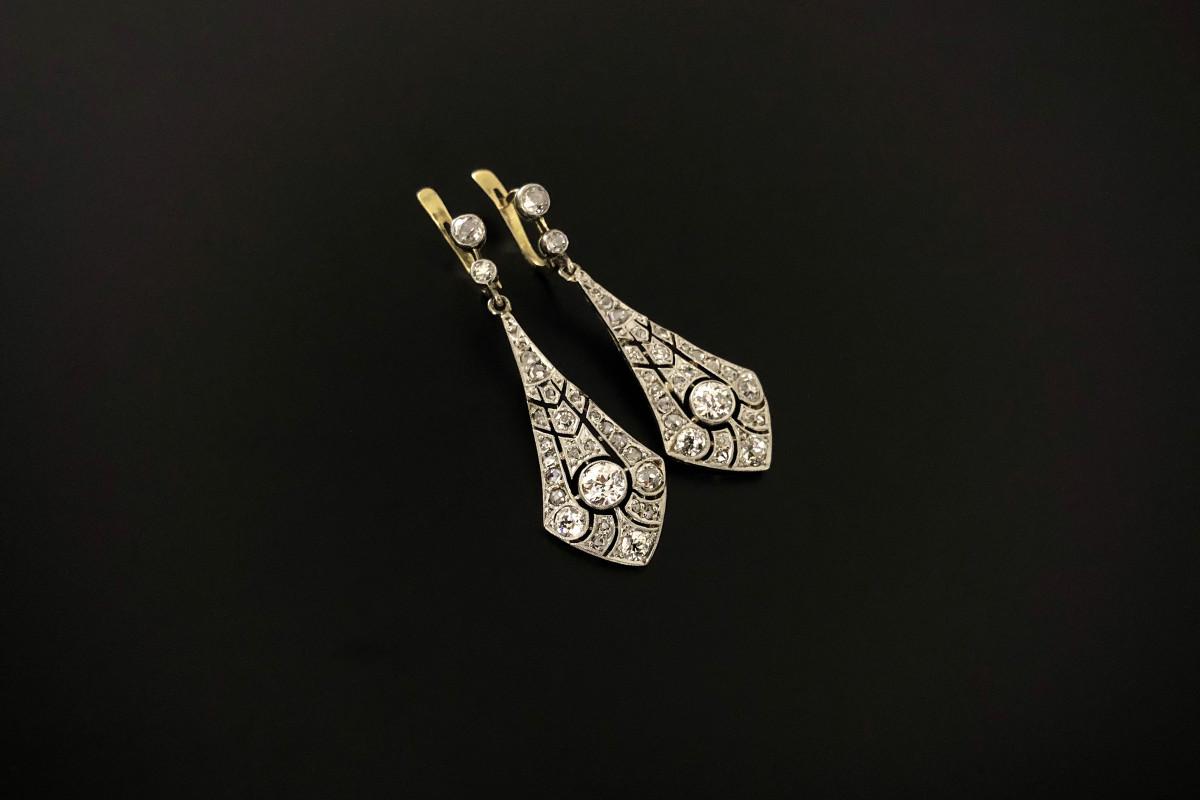 A Timeless Pair of Diamond Pendant Earrings