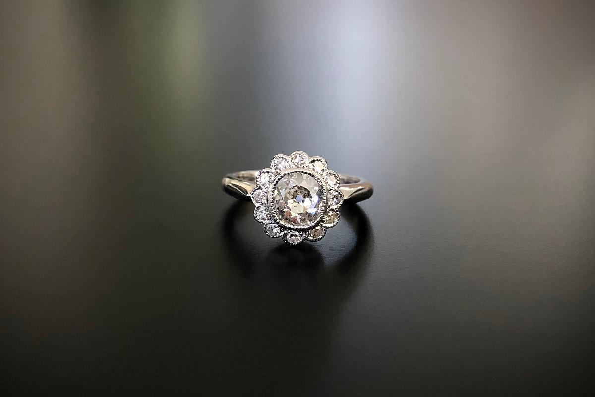 A Wonderful Diamond Cluster Ring
