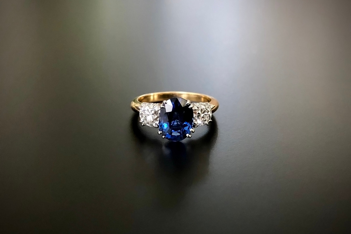 A Stunning Sapphire and Diamond Ring