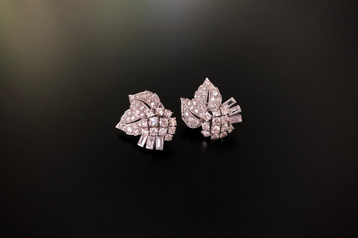 A Divine Pair of Diamond Clips