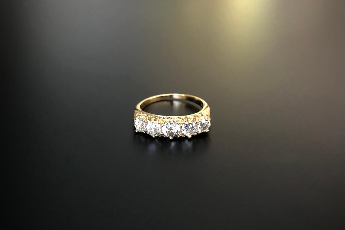 A Classic Five Stone Diamond Ring