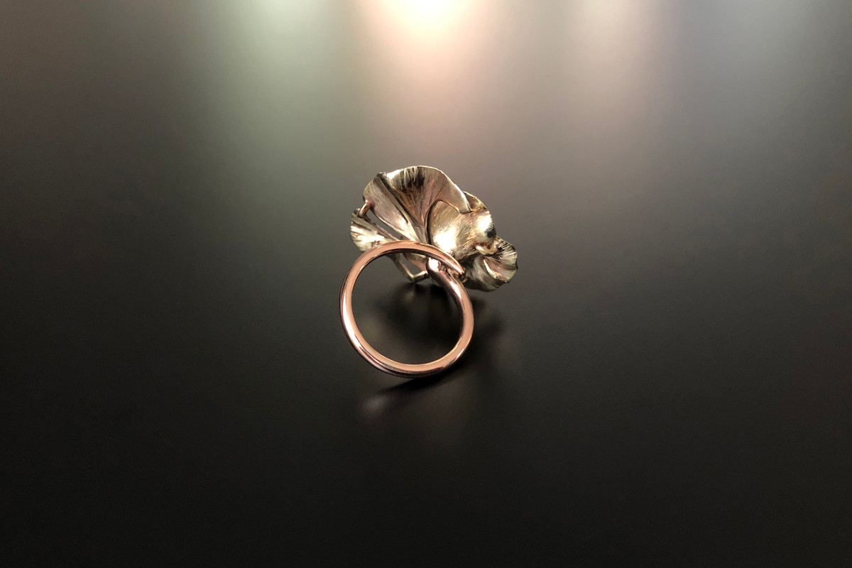 Antique Enamel Pansy Ring Reimagined