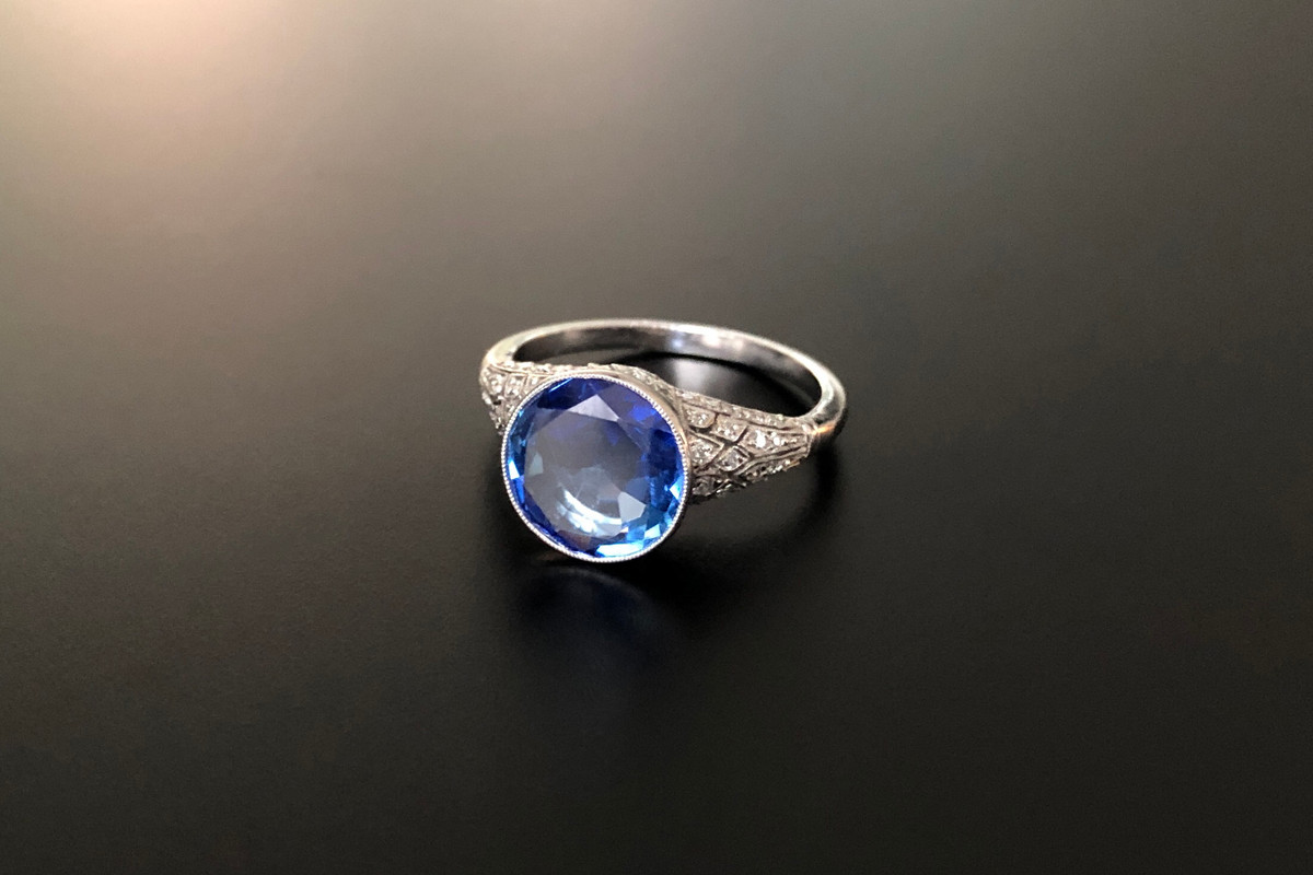 A Sublime Sapphire and Diamond Ring