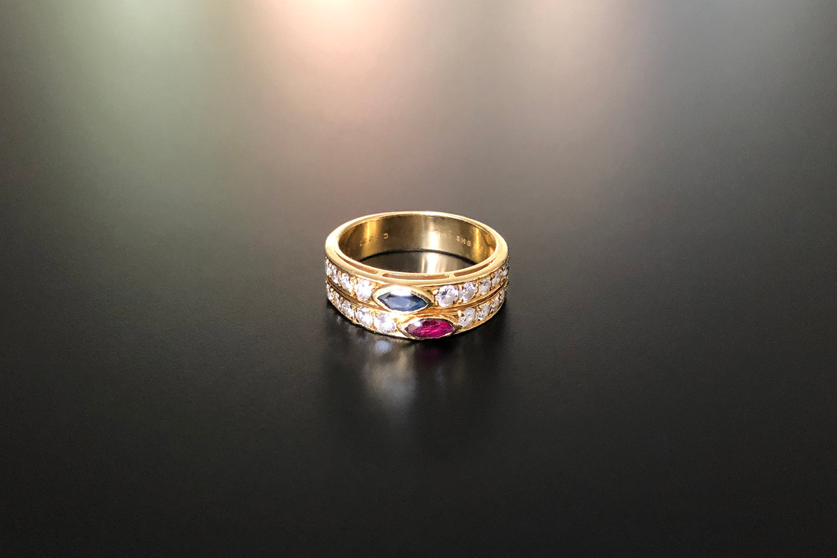A Gorgeous Van Cleef & Arpels Diamond, Ruby and Sapphire Ring