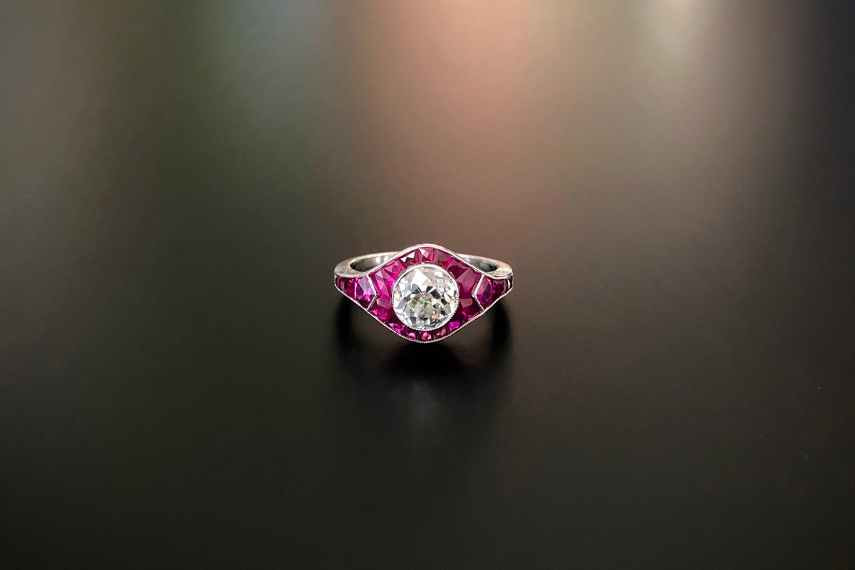 An Exquisite Diamond and Ruby Ring