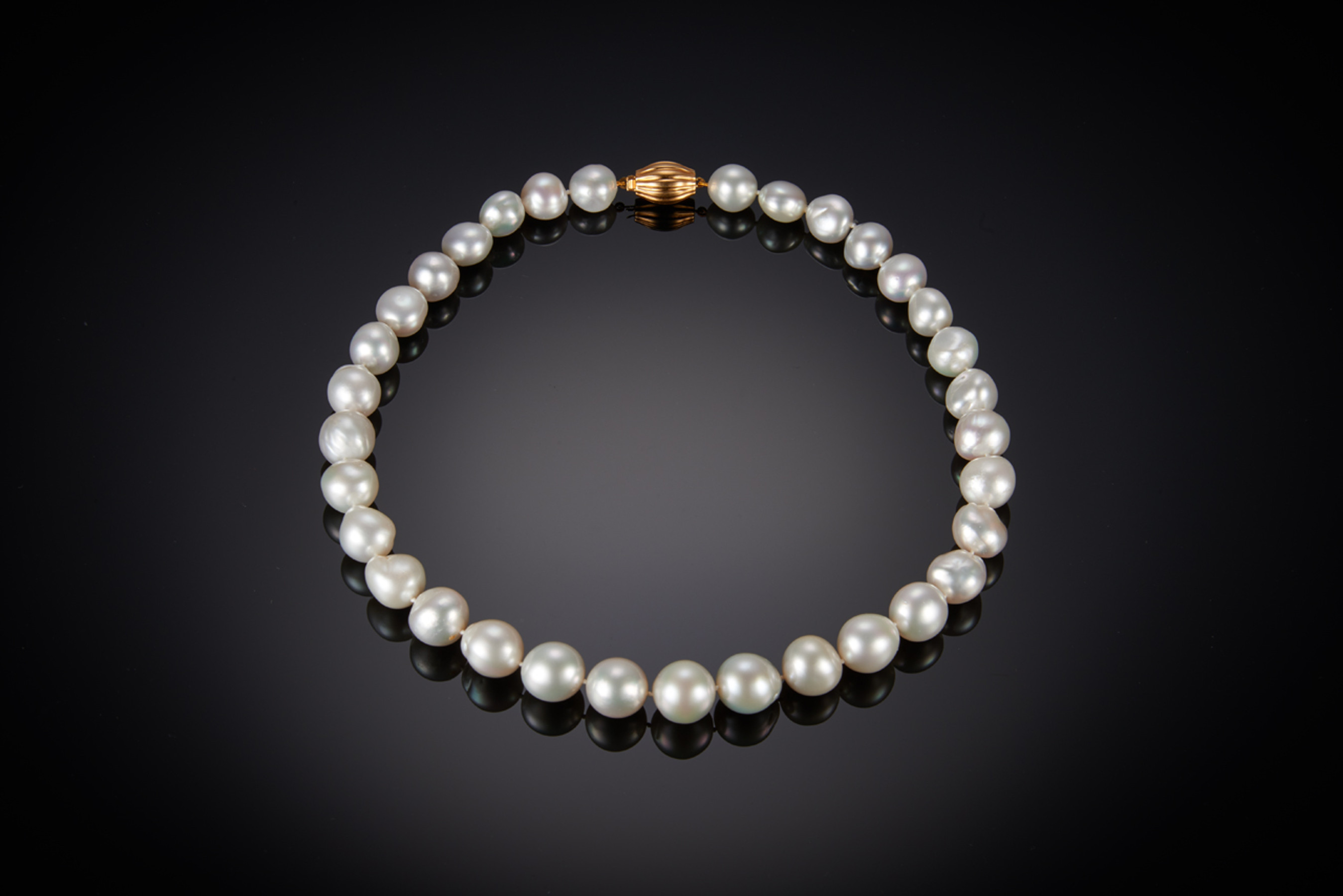 A Strand of Baroque South Sea Pearls