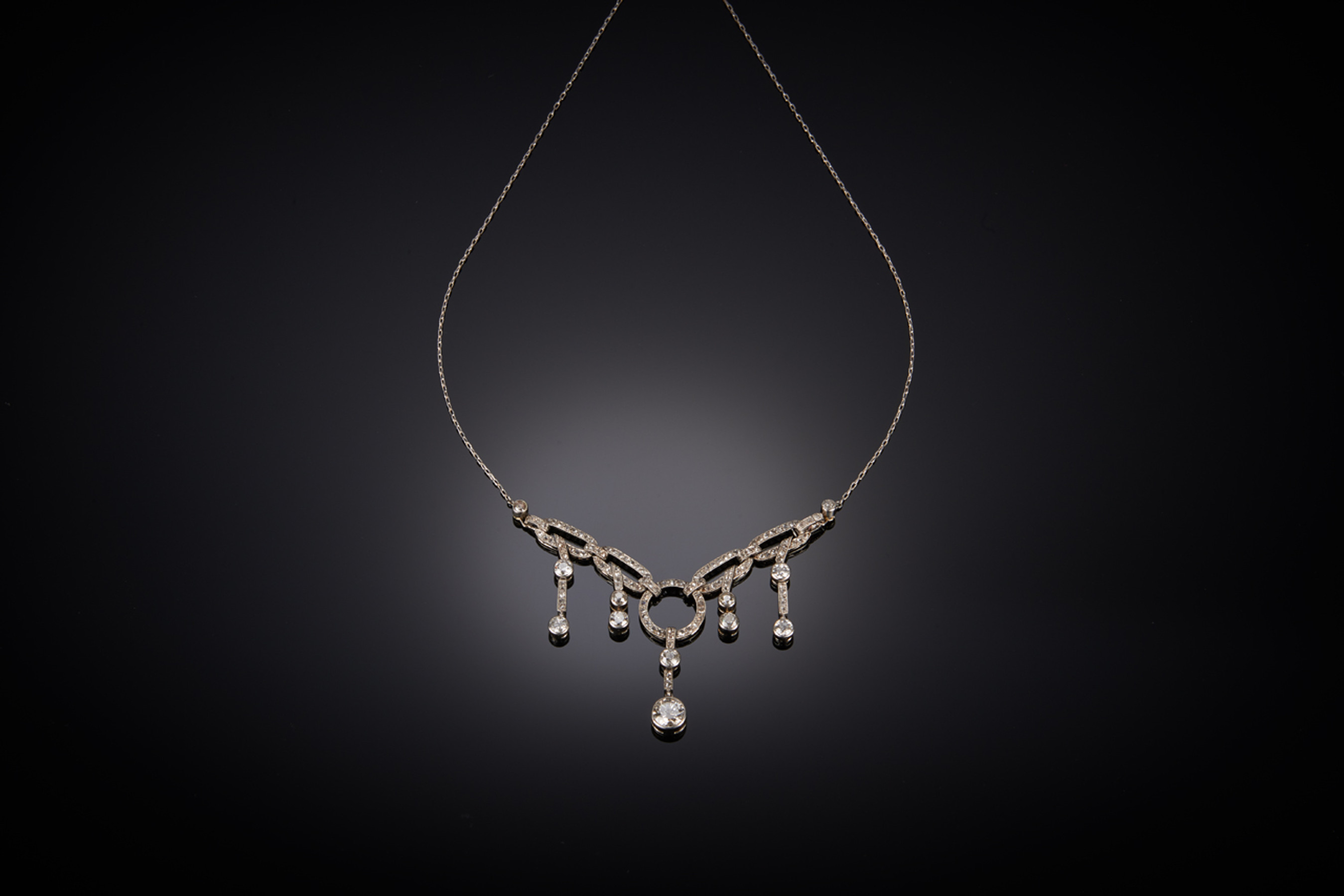 Striking Diamond Necklace