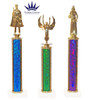 One column trophy with choice of column color, figure and trophy height