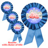 Blue Rosette with choice of title