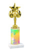 Colorful Abstract  pattern  trophy with choice of trophy height and figure (008