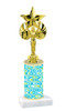 Abstract  pattern  trophy with choice of trophy height and figure (011