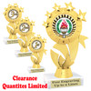 """Clearance - Discontinued   6"""" trophy.  Quantities are limited.  (ph48c"""
