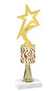 """Go """"wild"""" with your awards!  Animal Print Trophy with choice of figure and trophy height.  Trophy heights starts at 10"""" tall  (stem005"""