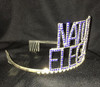 """2  3/4"""" Natural Elegance crown.  Blue stones with side combs"""