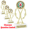 """Discontinued - clearance trophy.  6"""" tall with limited quantities.  8559"""