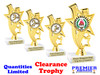 """Discontinued Trophy.  6"""" tall. Quantities are limited.  ph81"""