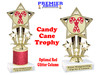 Glitter Candy Cane trophy.  Great trophy for all of your holiday events and pageants. 767
