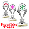 Glitter Snowflake trophy.  Great trophy for all of your holiday events and pageants.   5096