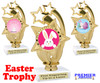 Easter theme trophy.  Festive award for your Easter pageants, contests, competitions and more.  ph-55