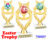 Easter theme trophy.  Festive award for your Easter pageants, contests, competitions and more.  ph-97
