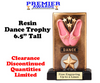 """Dance Trophy.  6.5"""" tall Resin trophy.  Clearance-Discontinued with limited quantities"""