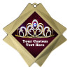 """Custom Crown medal.  3"""" Diamond medal with your custom text."""