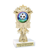 """Soccer trophy.  6"""" Soccer trophy with choice of artwork. MF3260"""